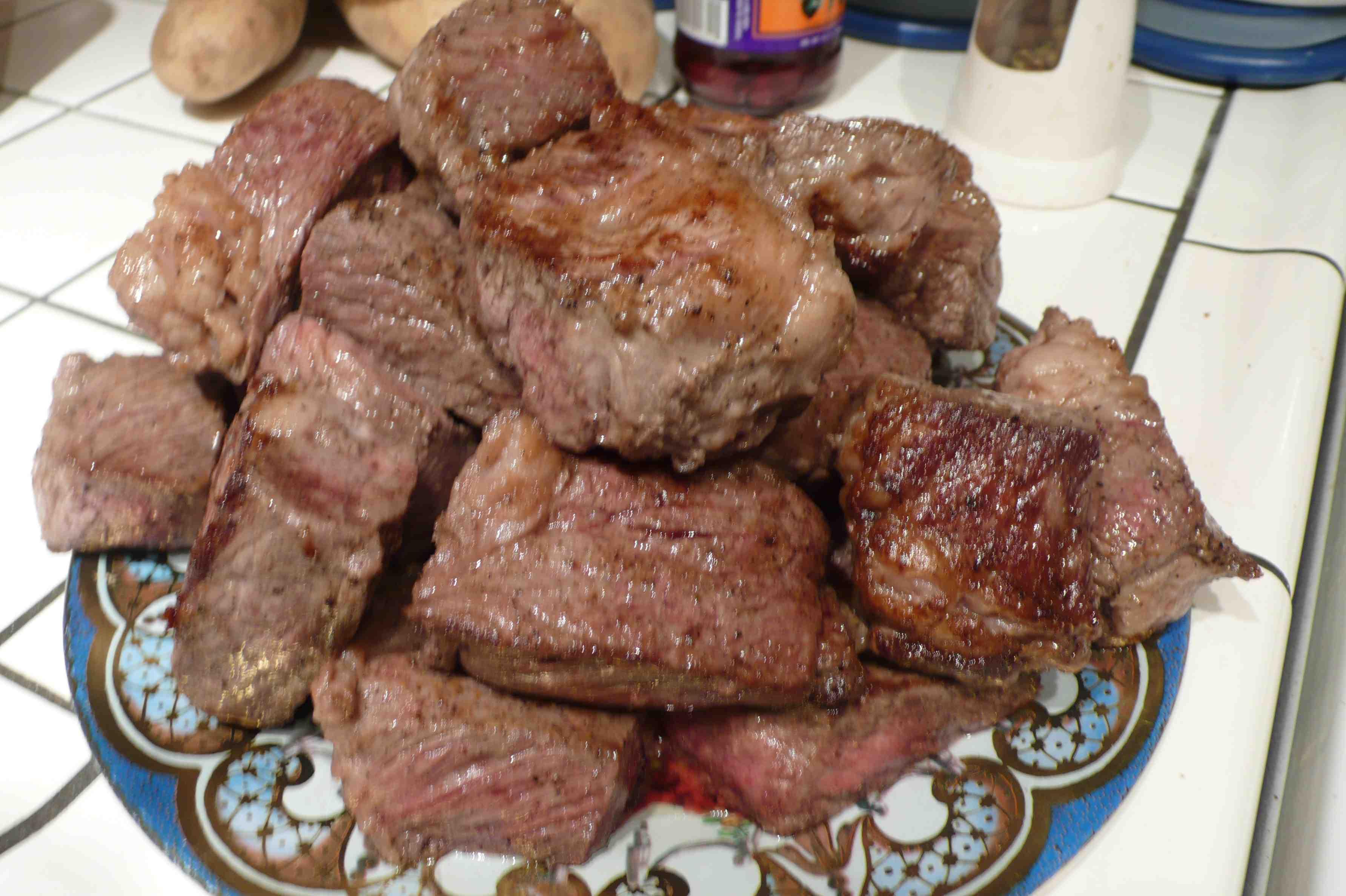 Braised meat