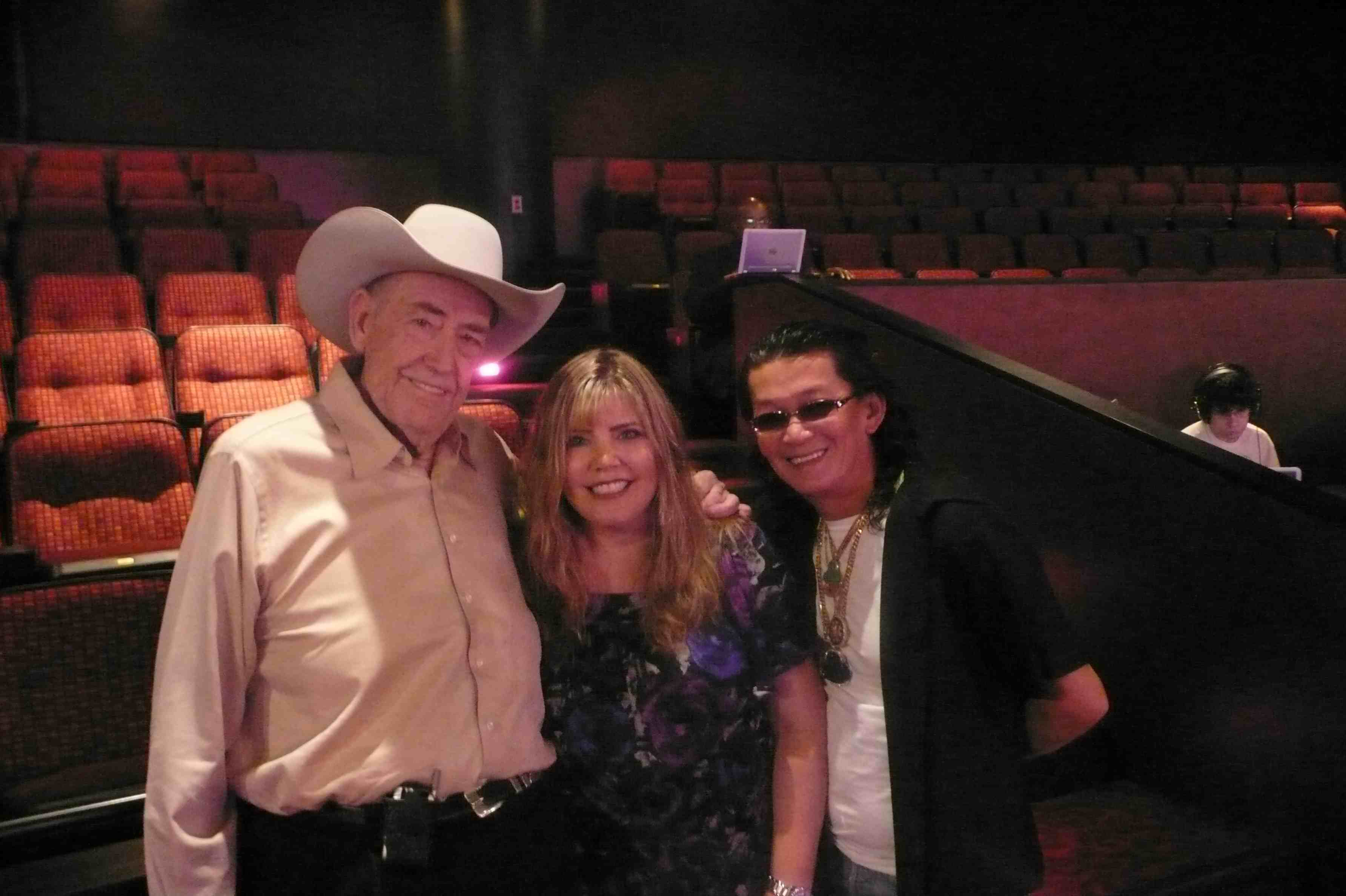 Poker legends Doyle Brunson and Scotty Nguyen during our interview