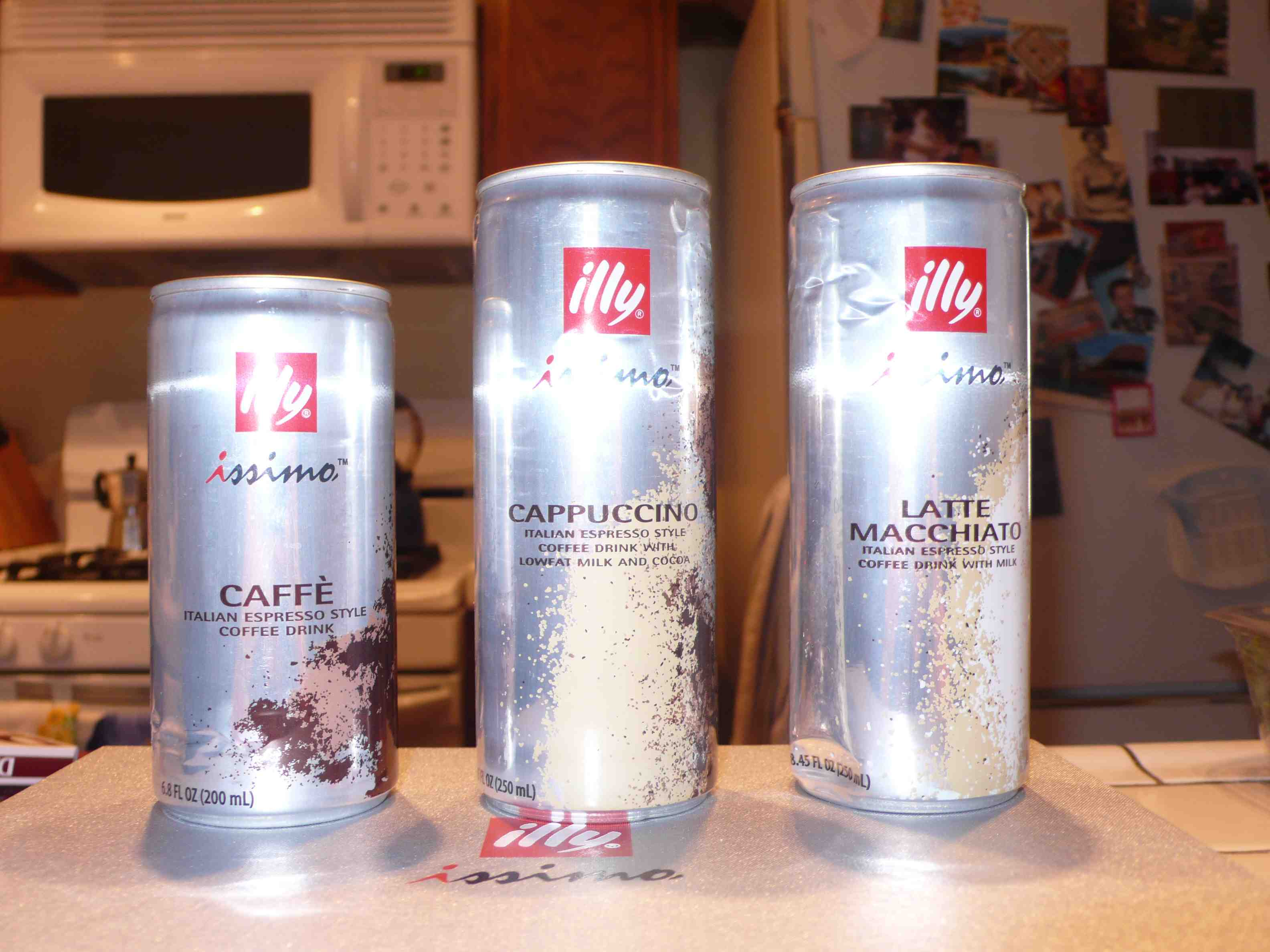 Illy issimo samples, in my kitchen