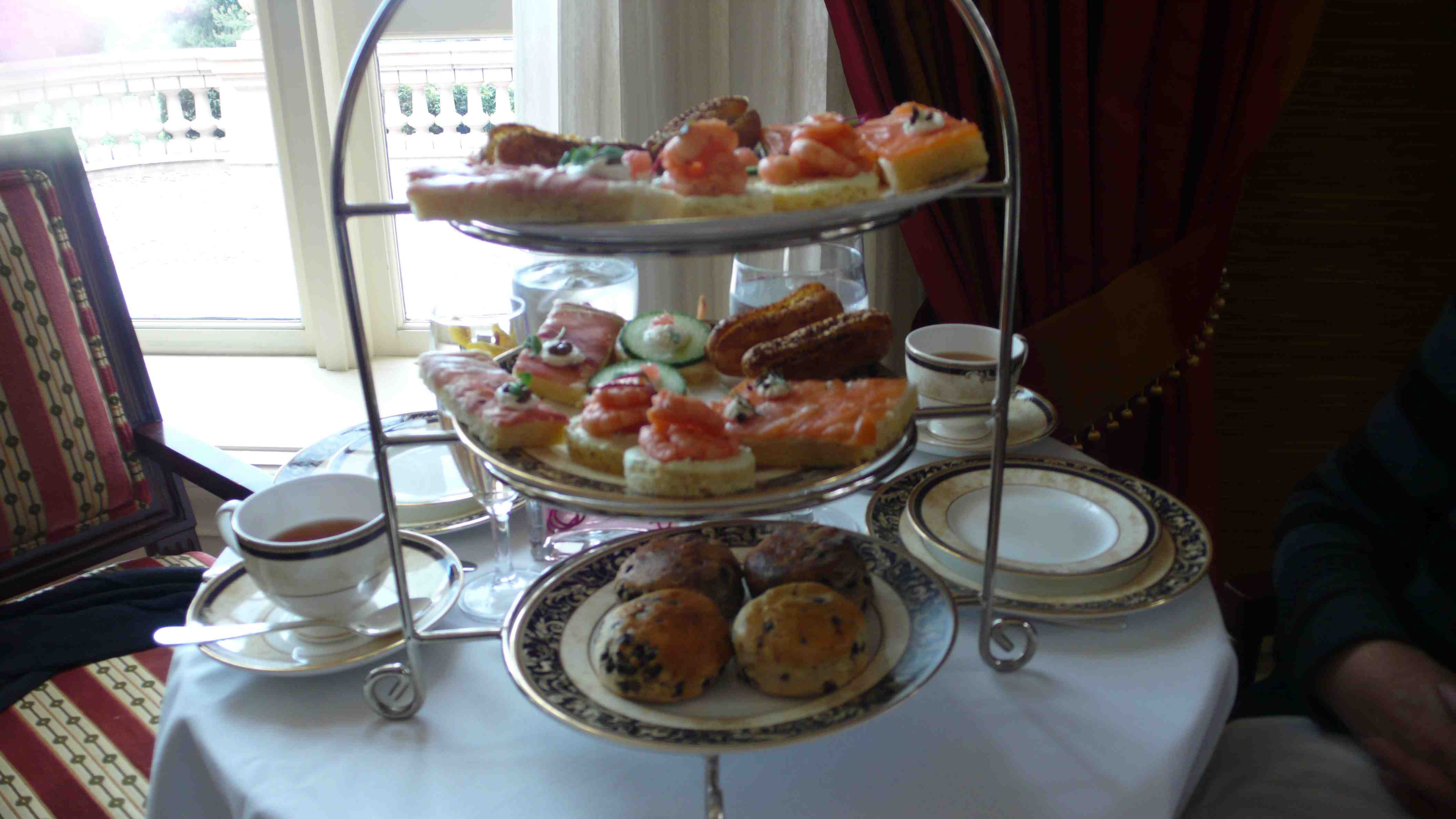 selection of tea sandwiches and scones