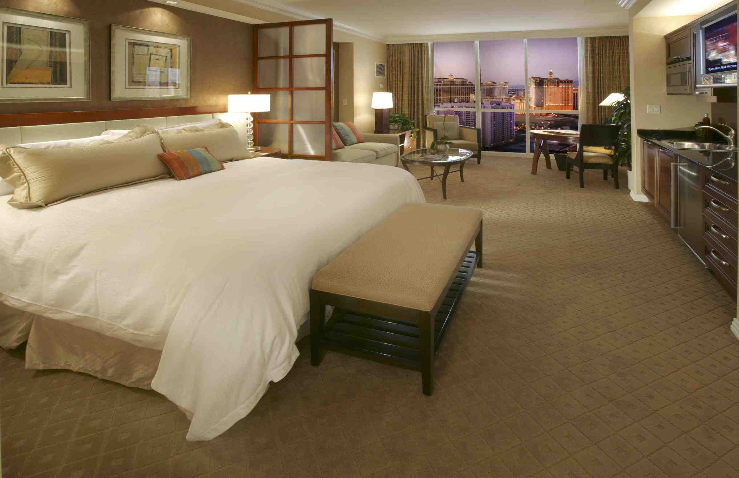 Grand junior suite at The Signature at MGM Grand