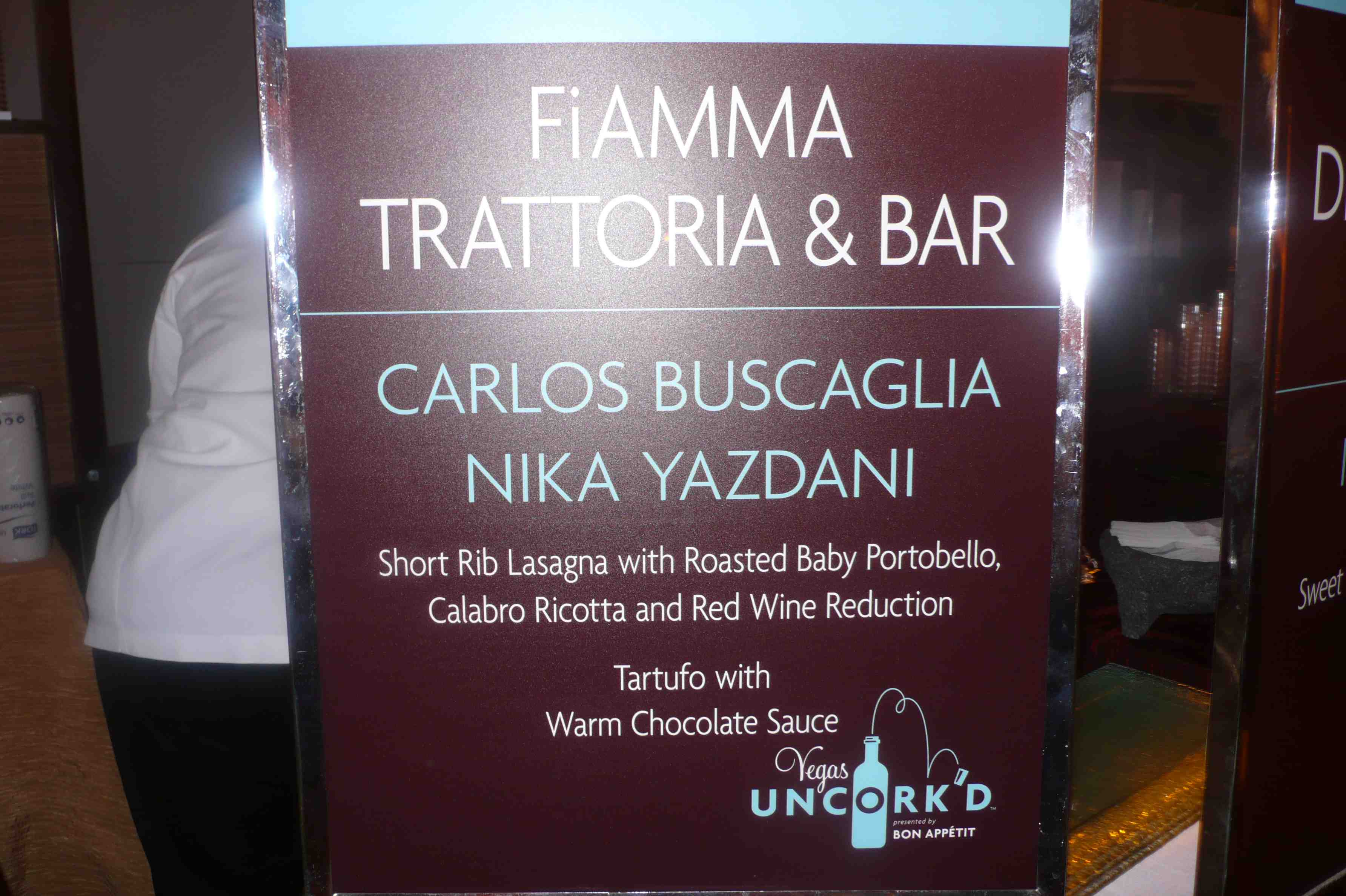 Fiamma Trattoria and Bar, MGM