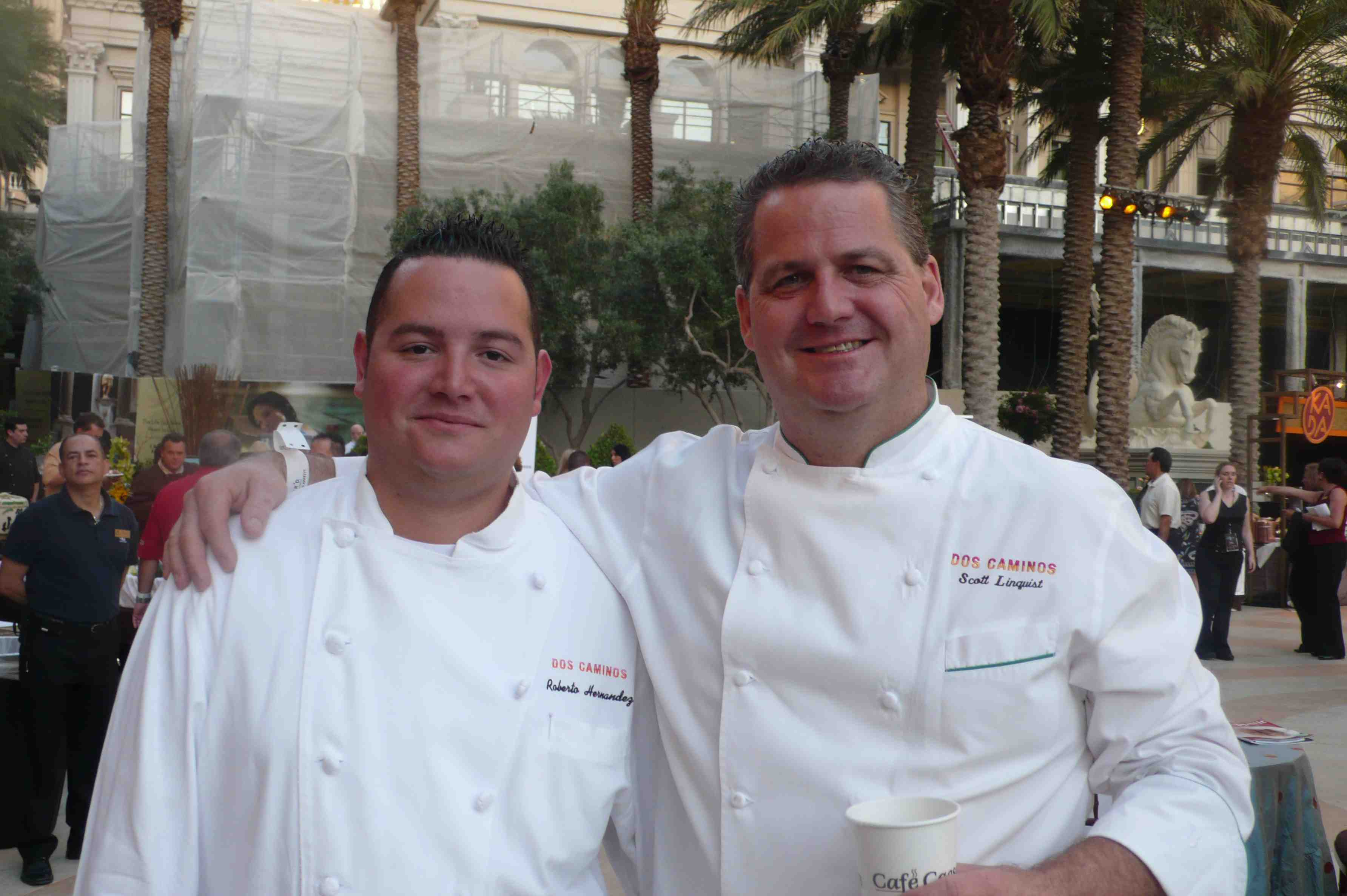 Dos Caminos chefs, Scott Linquist and Roberto Hernandez