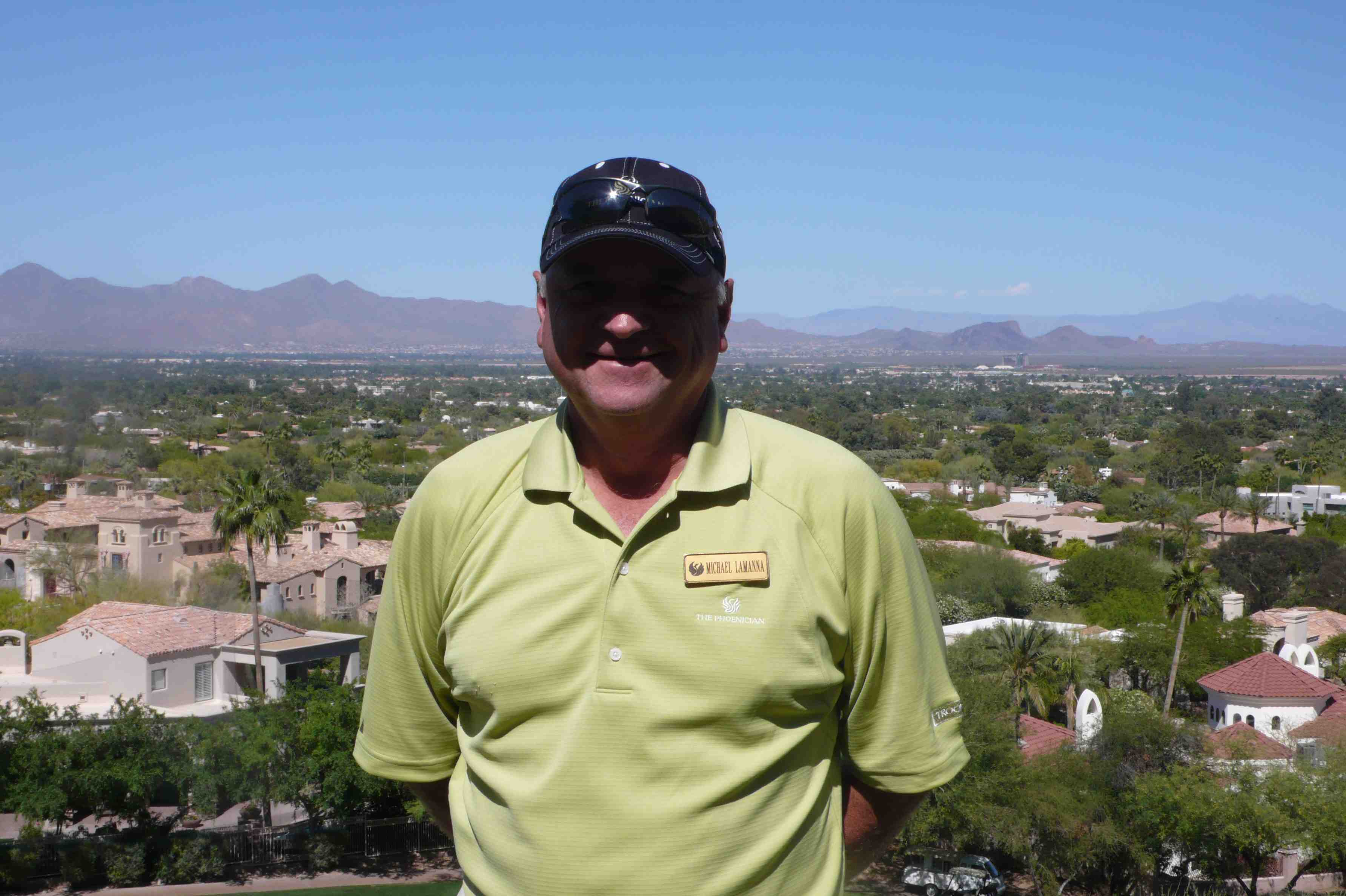 Michael Lamanna, golf pro at the Phoenician