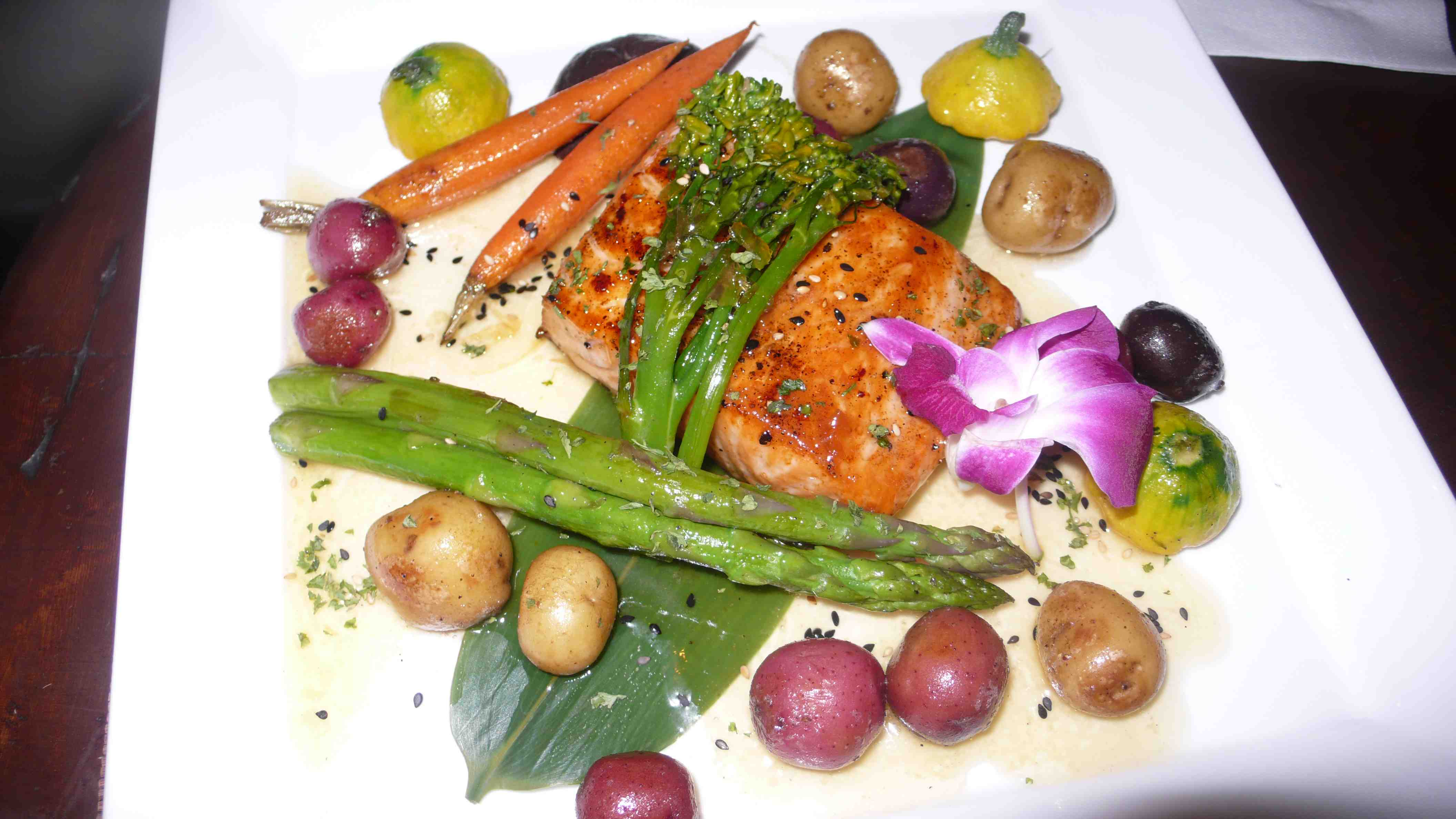 salmon with sweet wine