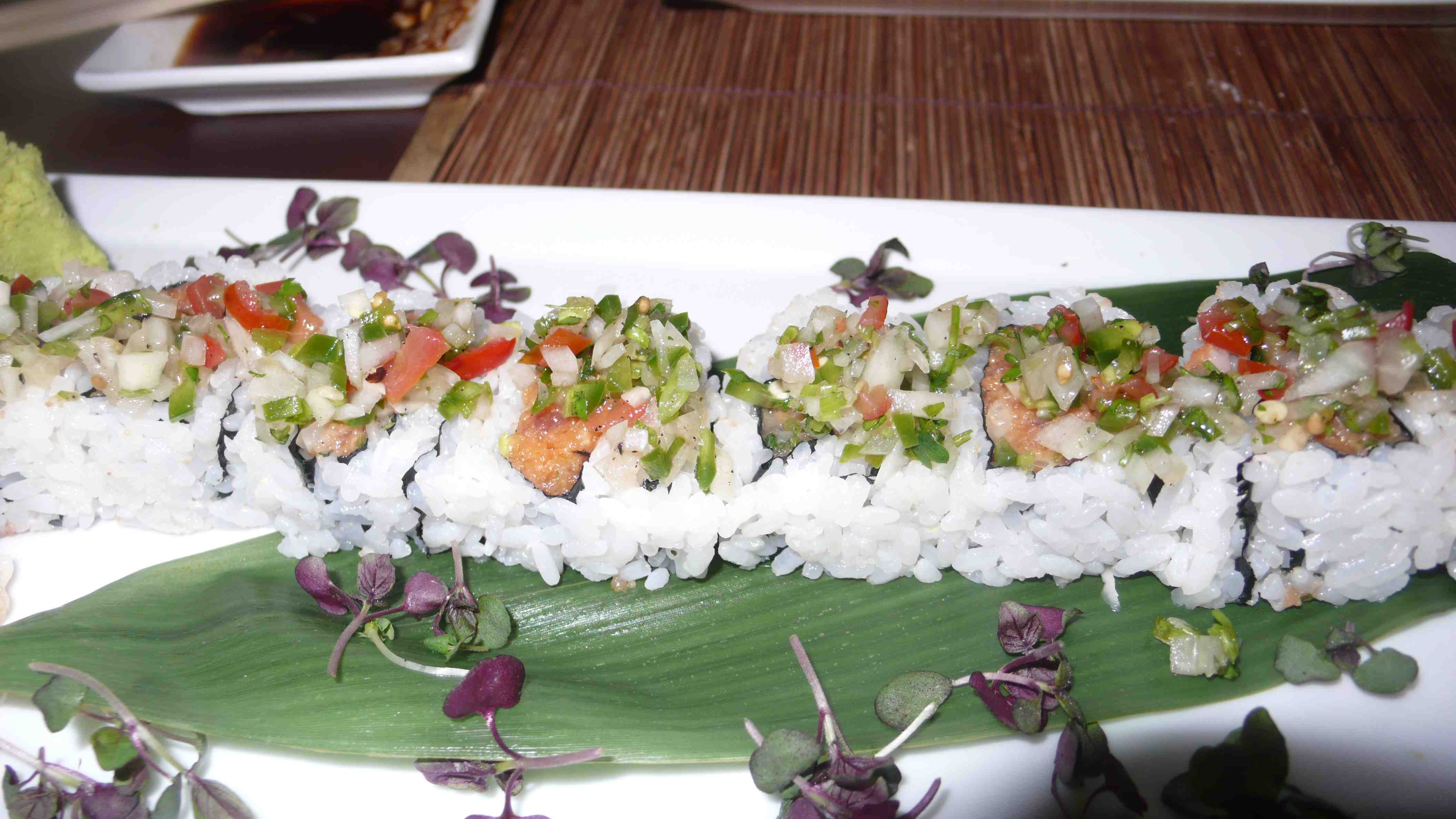 spicy roll with fresh salsa