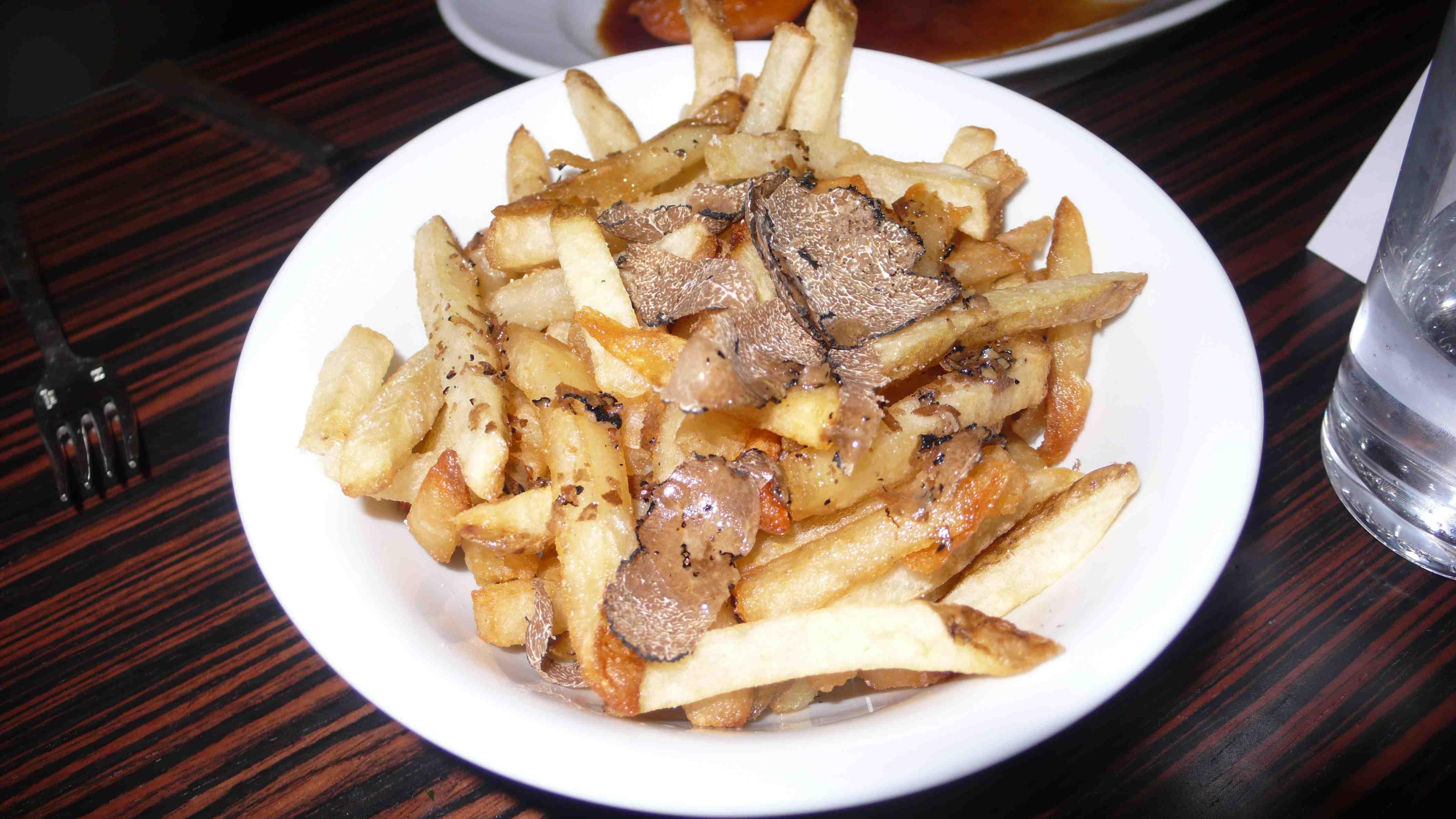 Triple fried truffle french fries