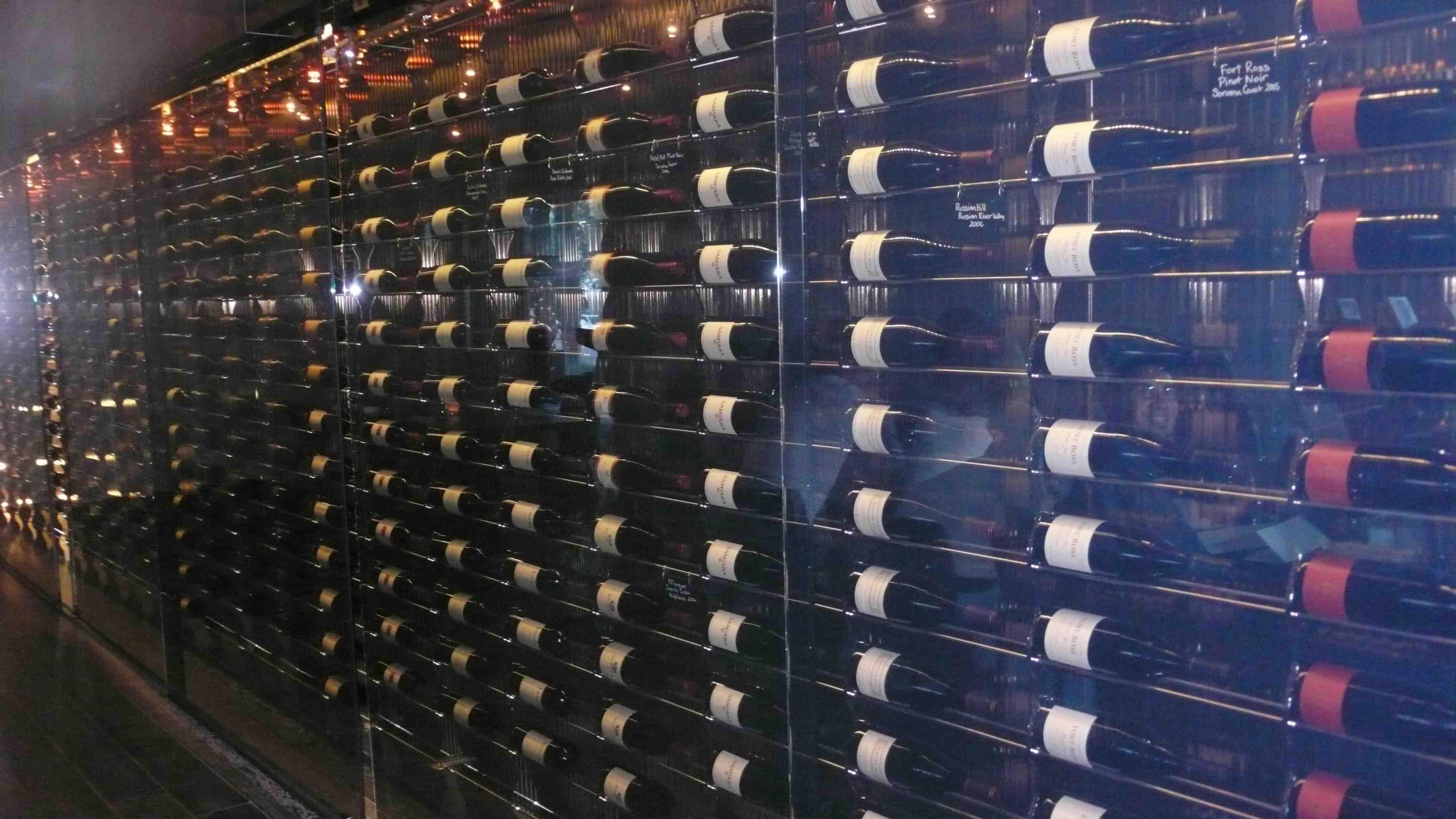 Open wine cellar