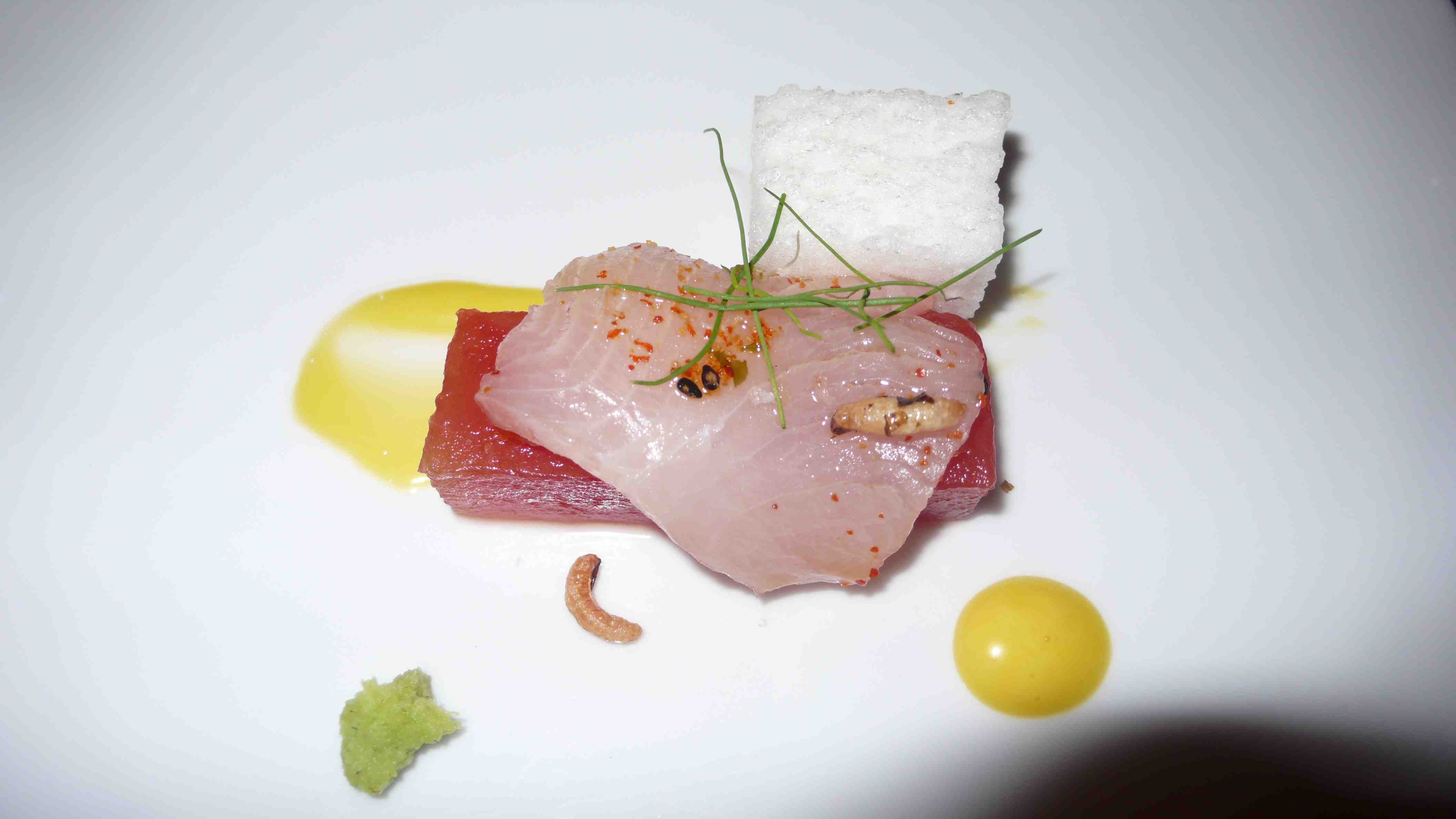 Yellowtal sashimi