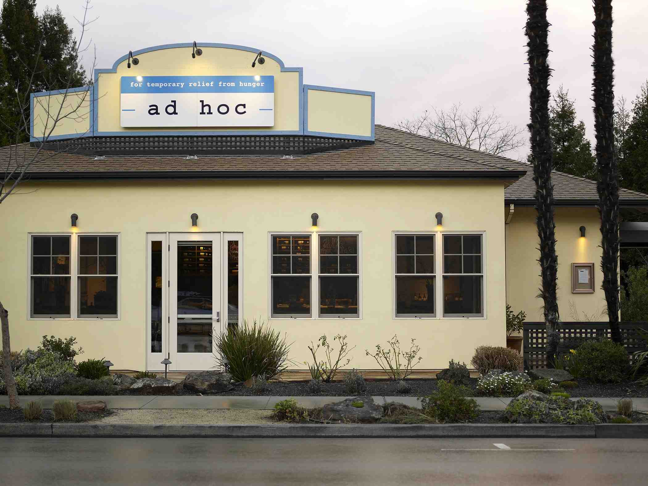 Thomas Keller's ad hoc restaurant
