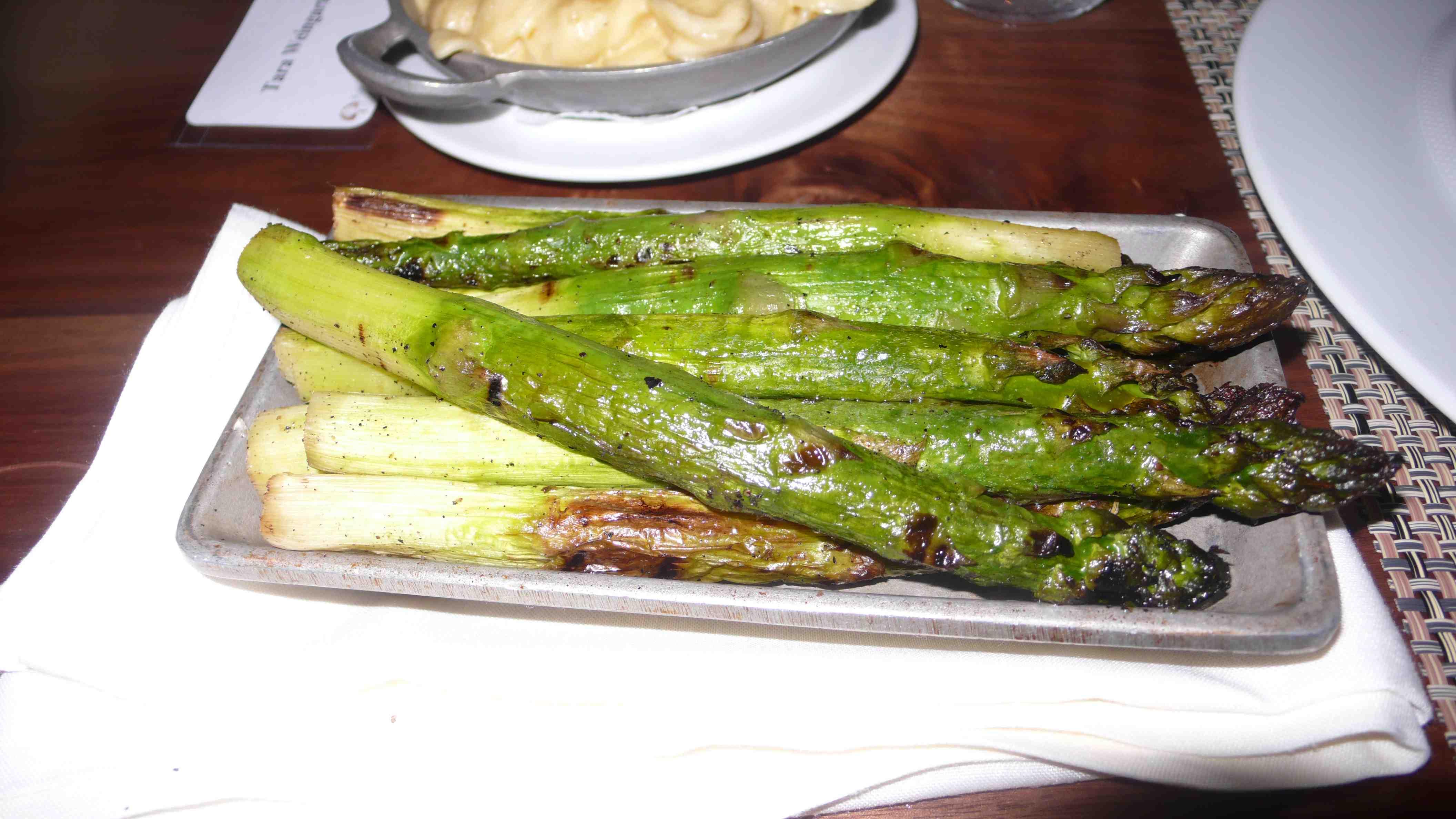 Grilled jumbo asparagus