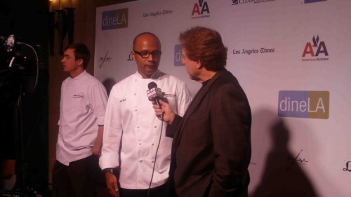 Chefs were interviews as they entered the event