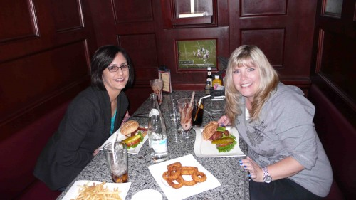 Sheila and me at burger bar