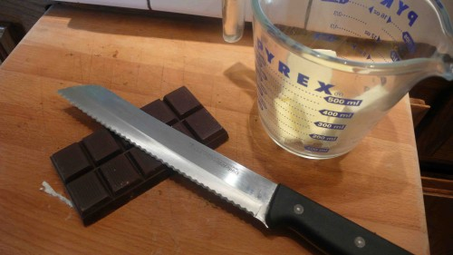 chop the chocolate