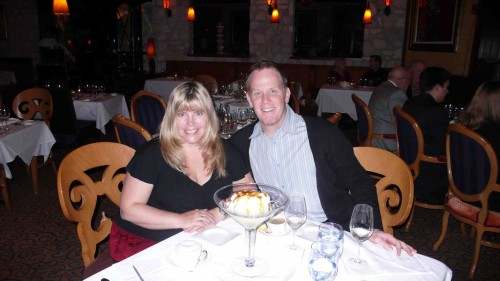 Paul and me, right before delving into dessert