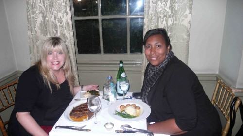 Ericka and me at the Olde Pink House