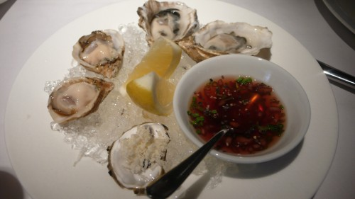 Kusshi and sawmill bay oysters