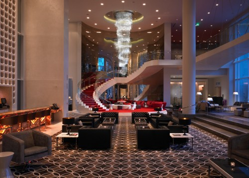 Lobby at W Hotel, Hollywood