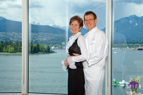 Chef Ernst Dorfler and Gerry Sayers, owners of Five Sails Restaurant, Vancouver