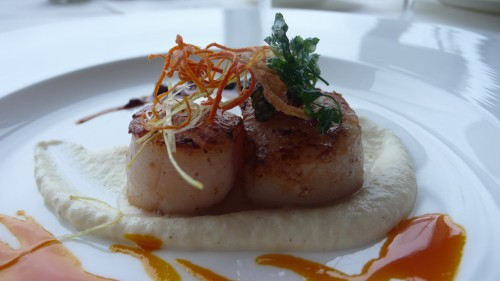Duo of scallops