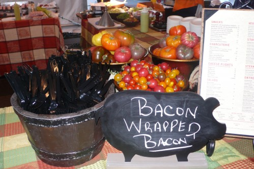 Bacon wrapped bacon booth