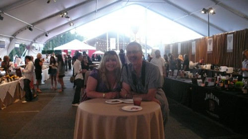 Chris and Me at festival