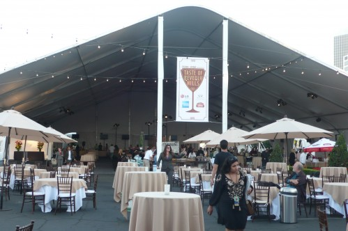 food and wine set up