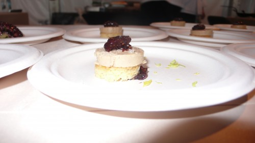 Foie gras sample