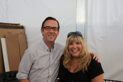 Interviewing Ted Allen at festival