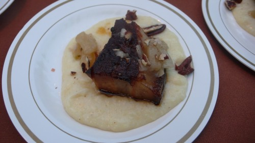 pork belly and polenta