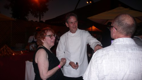 Chef Thomas Keller at bouchon booth