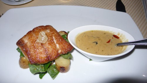 red snapper with mushroom sauce
