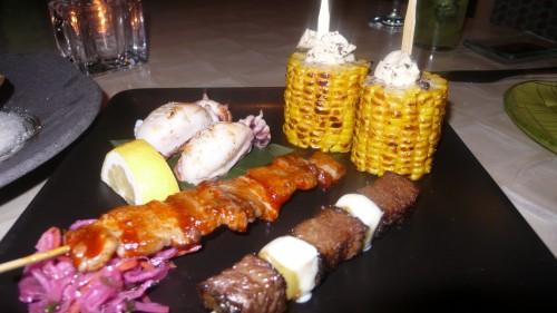 Robatayaki skewers