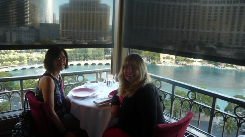 Sheila and me at Eiffel Tower Restaurant