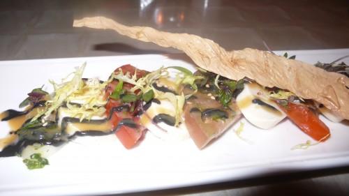 heirloom tomato tofu salad