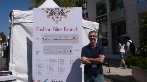 Chris at Fashion Bites Brunch