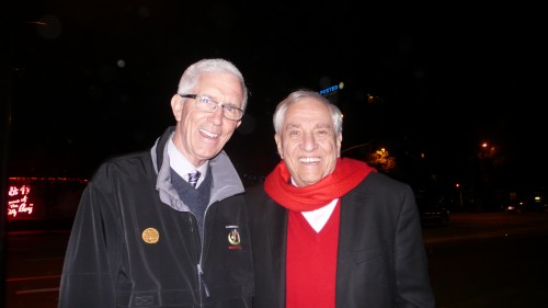 Garry Marshall and Fritz Coleman and Toluca Lake Xmas Open House