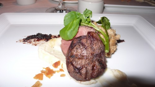 Buffalo over turnip puree