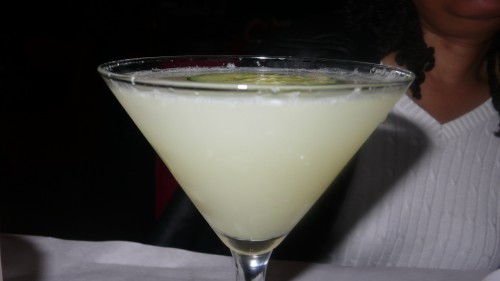 Ginger cucumber martini