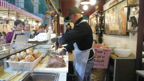 butcher making our lampredottos