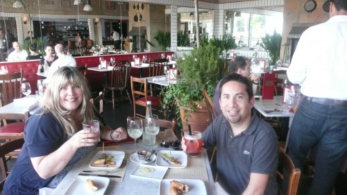 Enjoying cocktails with my good friend and makeup expert Dalbert