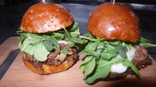 braised angus ox tail burger