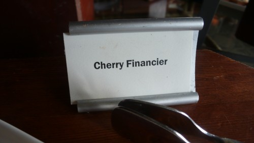 cherry financier sign