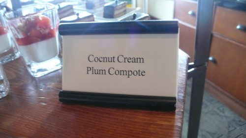 cocunut plum compote sign