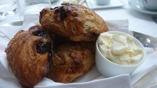 scones and clotted cream