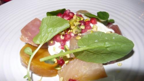 beet buratta salad