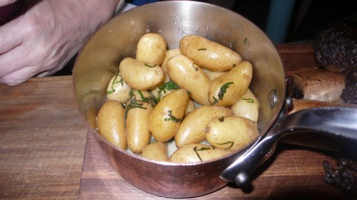 minted fingerling potatoes