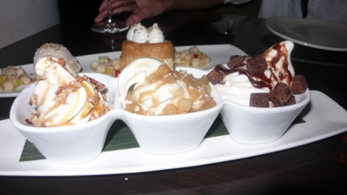 trio of sundaes