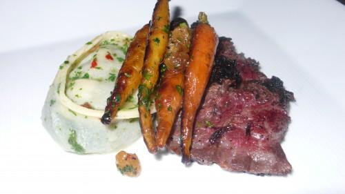 steak with tortellini