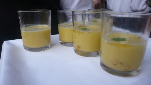 puree of Brentwood corn soup